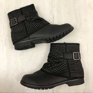 Not Rated NIB Lars Studded Buckle Moto Boots